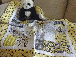 baby girl patchwork quilt sunny yellow