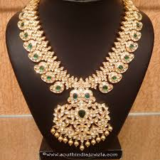 gold uncut diamond emerald necklace