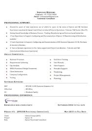 Consultant Cv Srinivas Functional Consultant Cv