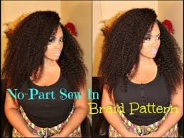 Sew In Braid Pattern Enchanting Tutorial On How To Do NoPart Sew In Braid Pattern With Sway Hair