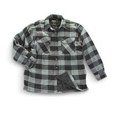 Mountain Ridge® Quilted Flannel Shirt - Jacket - 203347, Shirts at ... & Mountain Ridge® Quilted Flannel Shirt-Jacket, Gray Adamdwight.com