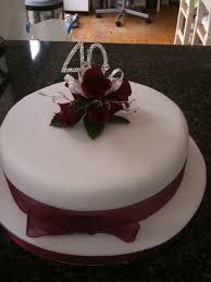 40th Anniversary Cakes Ideas 26716 40th Wedding Anniversar