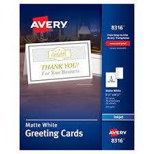 Avery 3378 Template Avery Half Fold Greeting Cards Inkjet 5 1 2 X 8 1 2 Matte
