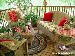 patio rug creative round rug design on back porch with wicker porch furniture