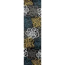 yellow gray rug yellow grey polypropylene contemporary modern fl flowers area rug yellow gray rug target