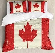canada king size duvet cover set happy canada day concept bonne fete du canada e on grungy flag effect decorative 3 piece bedding set with 2 pillow