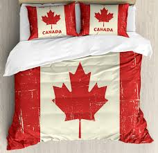 canada king size duvet cover set happy canada day concept bonne fete du canada e on grungy flag effect decorative 3 piece bedding set with 2 pillow
