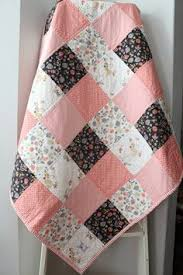 Patchwork Baby Quilt~ Homemade Baby Quilt~ Black & White Nursery ... & Baby Girl Quilt~ Coral Nursery~ Woodland Nursery Bedding~ Patchwork Baby  Quilt~ Homemade Adamdwight.com