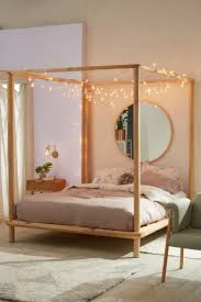 Urban Outfitters Eva Wooden Canopy Bed | Bedroom in 2019 | Wooden ...