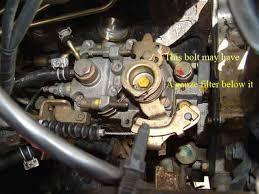 Fuel filter change on td42