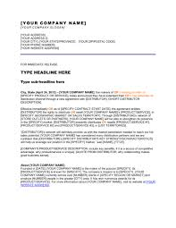 Templates For Press Releases Press Release New Distribution Channel Template Word Pdf