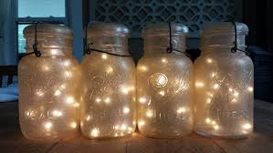 image of mason jar lights diy