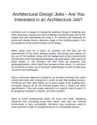 Architects Job Description Architectural Design Jobs Are You ...