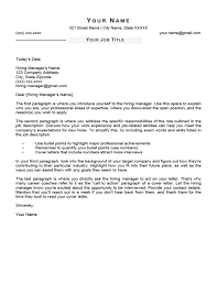 Free Basic Cover Letter Templates Word Download 45 Designs