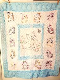 Full Size Of Vintage Baby Quilt Embroidered Baby Quilt Cat By ... & Full Size Of Vintage Baby Quilt Embroidered Baby Quilt Cat By  Betsyfernvintage 5000 Embroidered Baby Quilts Adamdwight.com