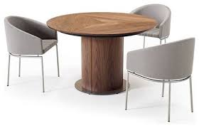 round pedestal dining table modern dining tables by