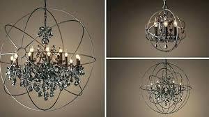 orb chandelier foucaults chandeliers lighting chrome color