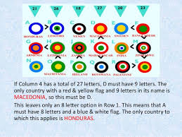 6 letter name target flags logic puzzle 2