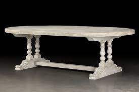reproduction dining tables. oval painted dining table from italy having two handsome turned column legs joined by a stretcher reproduction tables
