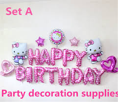New Design Pink Hello Kitty Theme Baby Girl Party Supplies