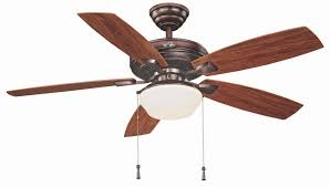 hampton bay gazebo 52 in led indoor outdoor weathered bronze ceiling fan with light kit