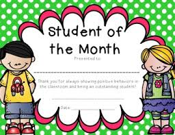 Student Of The Month Certificates Student Of The Month Award Barca Fontanacountryinn Com