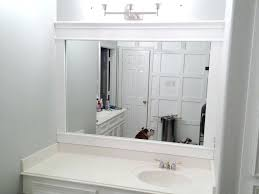 white frame bathroom mirrors how to frame bathroom mirror with clips beautiful elegant white framed wall