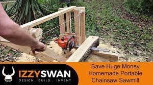 50 Dollar Portable Sawmill | Chainsaw <b>Mill</b> - YouTube