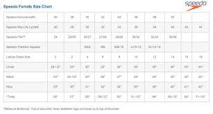 Speedo Size Chart Usa Bry Female Team Suits