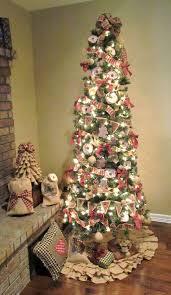 christmas trees decorated with burlap ribbon. Sitting Intended Christmas Trees Decorated With Burlap Ribbon