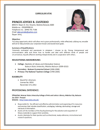 Writing A Cv Resume Sample Of Curriculum Vitae For Job Application Cv Resume Format