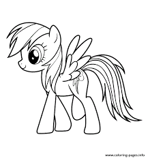 Small Picture My Little Pony Rainbow Dash Coloring Pages To Print Coloring Pages