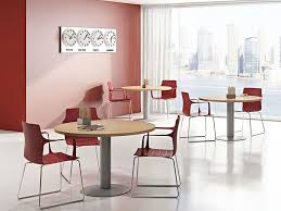 round melamine faced chipboard contract table compact c11s z c by arcadia