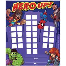 Super Hero Adventure Mini Reward Chart Marvel Id 24012