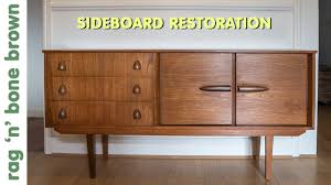 mid century modern furniture restoration. Restoring And Repairing A Mid Century Modern Style Sideboard Furniture Restoration E