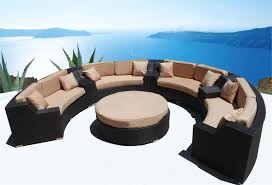 Image modern wicker patio furniture Sectional Enjoyable Inspiration Round Outdoor Furniture 23 Best Patio And Pool For Year Living Blue Cream Brown Resin Wicker Daybed Ottaman Sofas Covers Affmm House Inspirations Beautiful Ideas Round Outdoor Furniture Patio Marvellous Sofa Dining