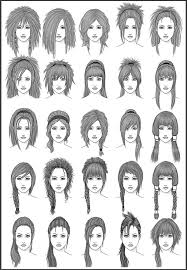 Hair Style Anime womens hair set 3 by darksheikah on deviantart drawing 8105 by wearticles.com