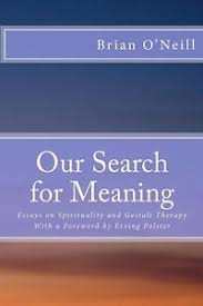 our search for meaning essays on spirituality and gestalt therapy  image is loading our search for meaning essays on spirituality and