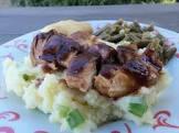 balsamic glazed chicken with spring onion mash