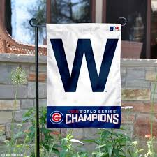 chicago cubs world series champions w garden flag