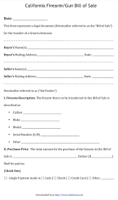 Download California Bill Of Sale Form For Free Formtemplate