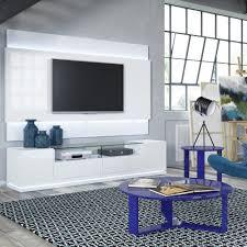 vanderbilt white gloss tv stand 2 2 floating wall tv panel w led lights by manhattan comfort