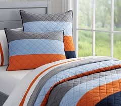 Block Stripe Quilted Bedding   Pottery Barn Kids   Baby Friedman ... & Pottery Barn Kids features stylish quilts for boys and girls. Find cozy  bedding in exclusive colors and patterns and sized just right for kids. Adamdwight.com