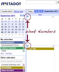 Week Number Calendar Viewing Week Numbers In Google Calendars Das Keyboard Blog