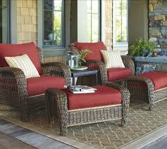 the porch furniture. Comfortable Outdoor Chairs Small Balcony Furniture Red Chair Seat Pad With  Brown Cushion And Books Candle The Porch