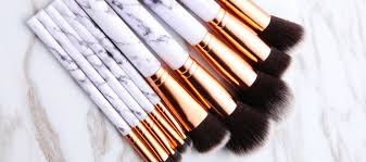 marble makeup brushes. deluxe marble brush collection makeup brushes