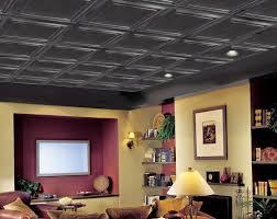 painting drop ceiling tiles black