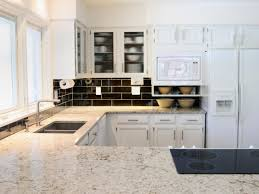 Modern Kitchen Countertop White Granite Countertops Hgtv
