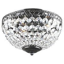 com antique bronze rita crystal flush mount chandelier home with inspirations 2 dining room visalia chrome 9 light