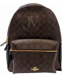 NEW WOMEN S COACH (F58314) SIGNATURE BROWN BLACK CHARLIE LEATHER BACKPACK  BAG